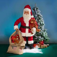 Kerstman met zak huren
