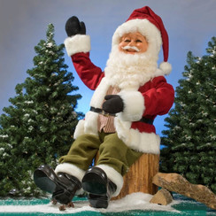 Kerstman zittend