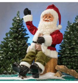 MultiAnimation Kerstman zittend