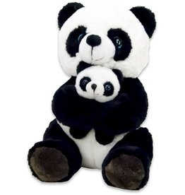 Dinotoys Pluche Panda met Baby, 20 cm