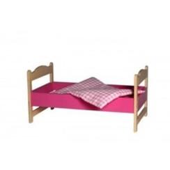 Poppenbedje Roze inclusief dekje, van Dijk Toys