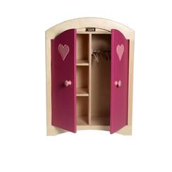 Poppenkledingkast Roze, van Dijk Toys, 3 kledinghangers GRATIS