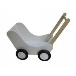 Poppenwagen wit, van Dijk Toys