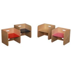 Houten Kubusstoel, van Dijk Toys