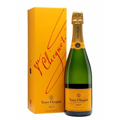 Veuve Clicquot Champagne Brut Yellow label In Designbox