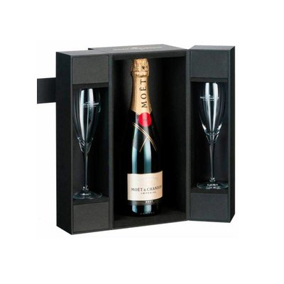 a524712d1f6076 Moet   Chandon Champagne Brut Imperial In Luxe Giftbox + 2 Glazen