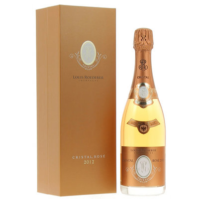 Louis Roederer Champagne Cristal Rosé 2012 in luxe coffret