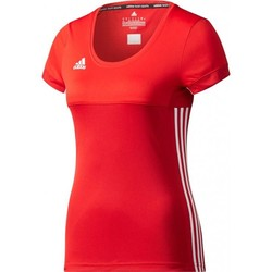 adidas T16 Climacool Shortsleeve T-shirt Dames rood/scarlet