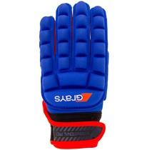 International Pro Glove Links Blauw/Fluor Rood