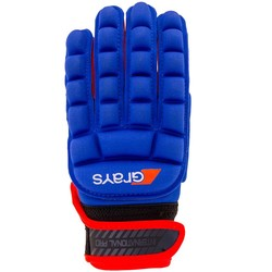 International Pro Glove Links Blauw/Fluor Rood