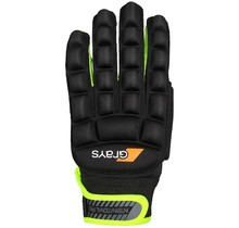 International Pro Glove Links Zwart/Fluor Geel