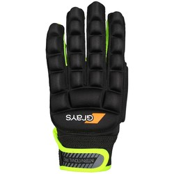 International Pro Glove Links Zwart/Fluor Geel