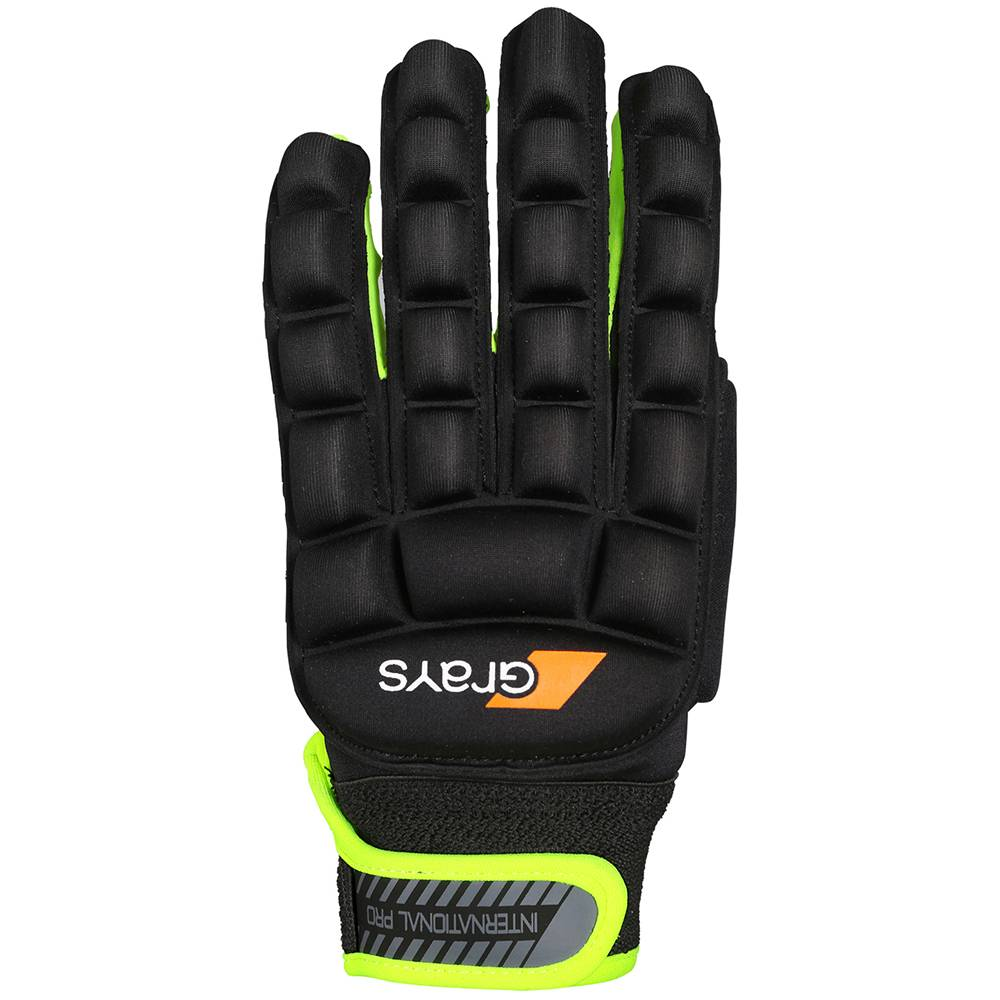 Grays International Pro Glove Links Zwart/Fluor Geel