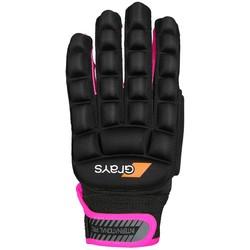 International Pro Glove Links Zwart/Fluor Roze