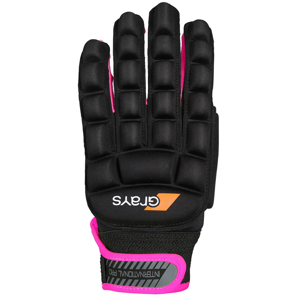 Grays International Pro Glove Links Zwart/Fluor Roze