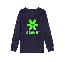 Kids Sweater Navy Melange green Logo