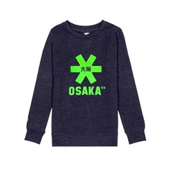 Kids Sweater Navy Melange green Logo