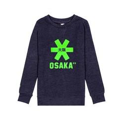 Osaka Kids Sweater Navy Melange green Logo