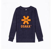 Kids Sweater Navy Melange Orange Logo
