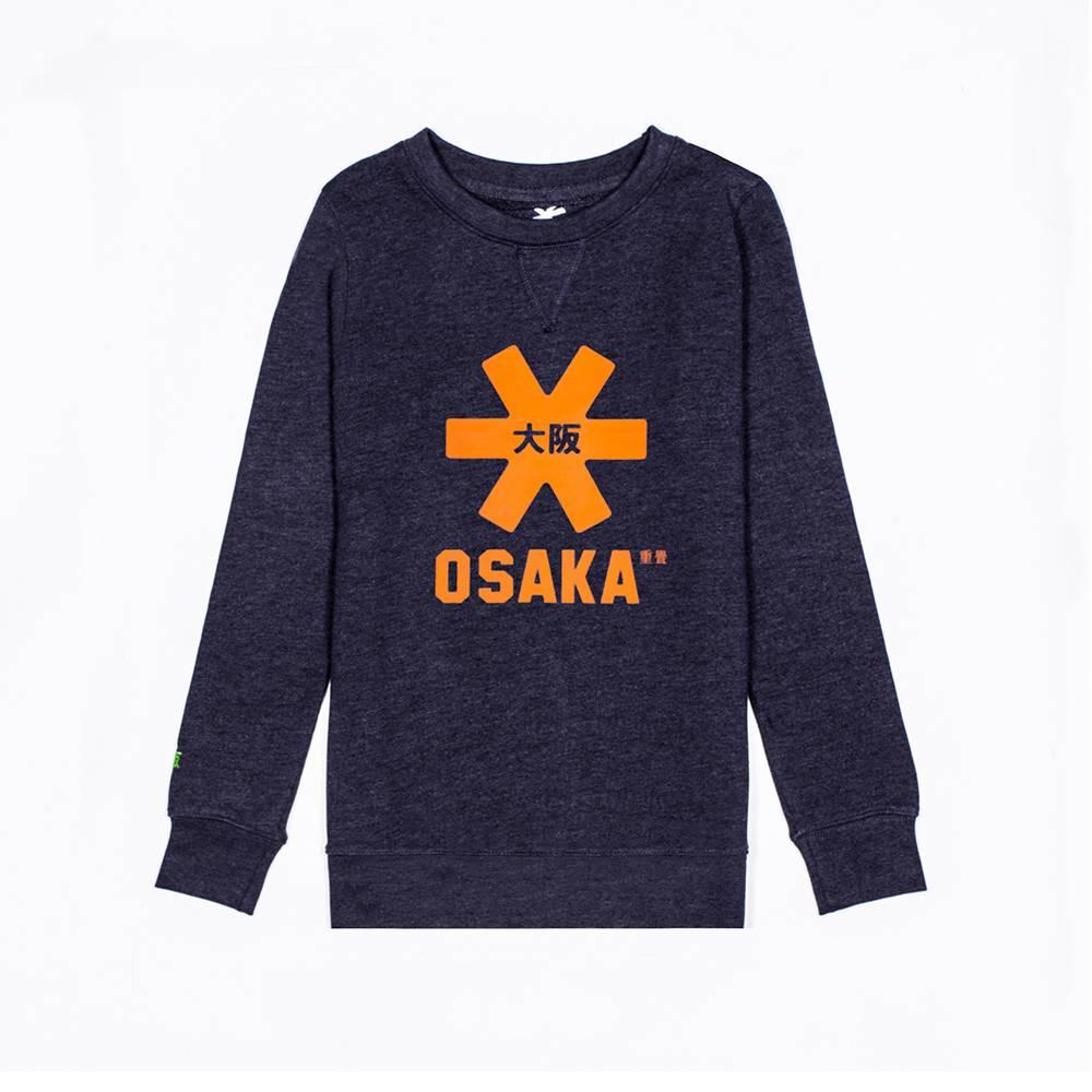 Osaka Kids Sweater Navy Melange Orange Logo