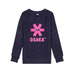 Osaka Kids Sweater Navy Melange Pink Logo