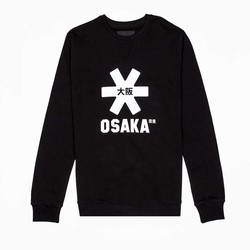 Osaka Men Sweater White Star Black