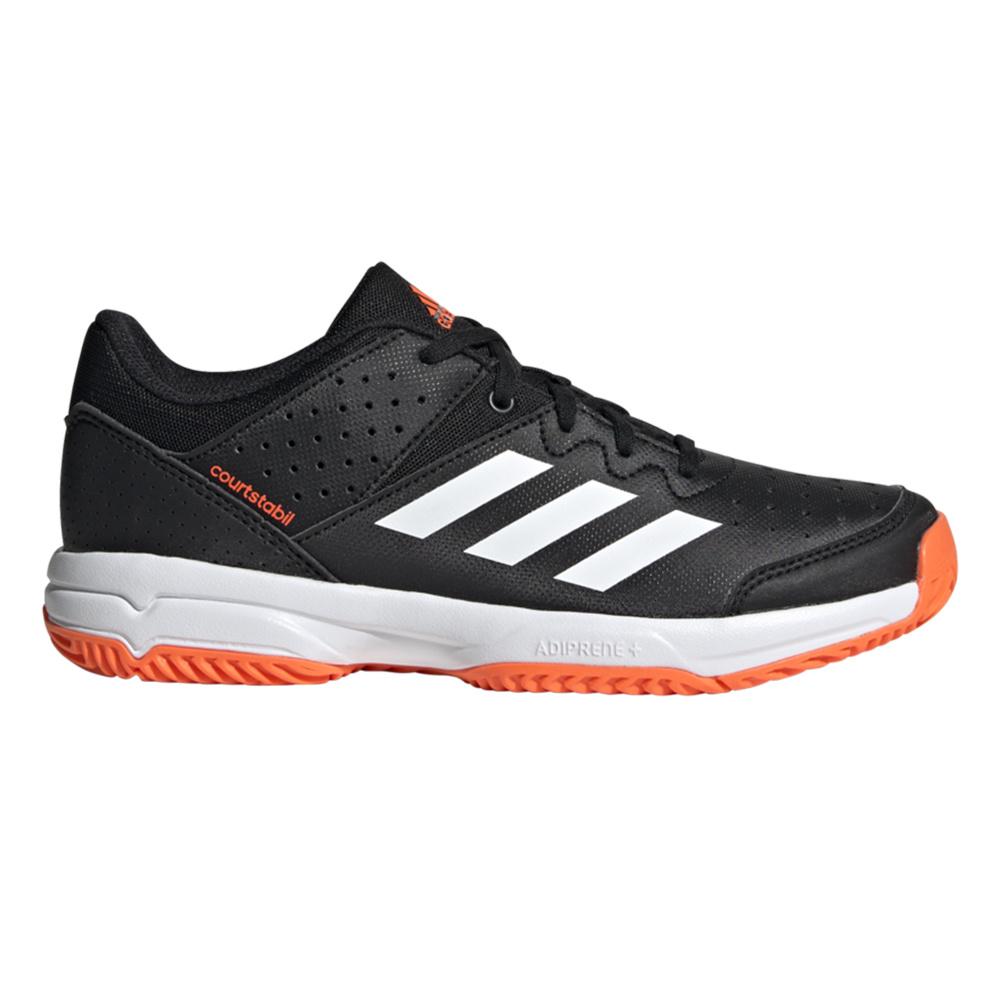 adidas Court Stabil Junior 19/20 Black/White zaalhockeyschoenen