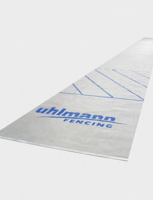 Uhlmann Fencing Piste d'escrime en acier inoxydable 1,55 x 17 m