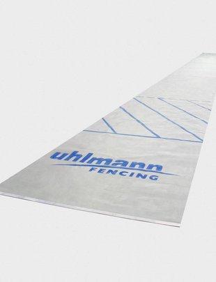 Uhlmann Fencing Piste d'escrime en acier inoxydable revêtue 1,55 x 17 m