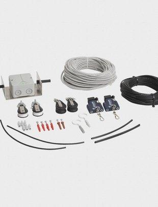 Uhlmann Fencing Installation pour mise en hauteur de câble de branchement