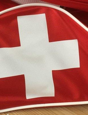 Uhlmann Fencing Flagge auf Rollbag (Außentasche)