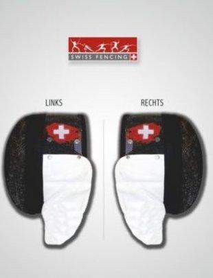 Swiss Fencing Logo  (FIE) Swiss Fencing auf Maske