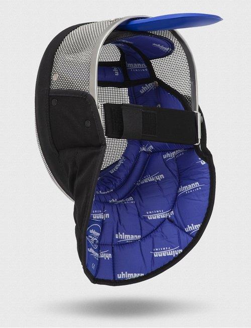 Uhlmann Fencing Masque de maître d'escrime de sabre FIE 1600 N avec bavette noire