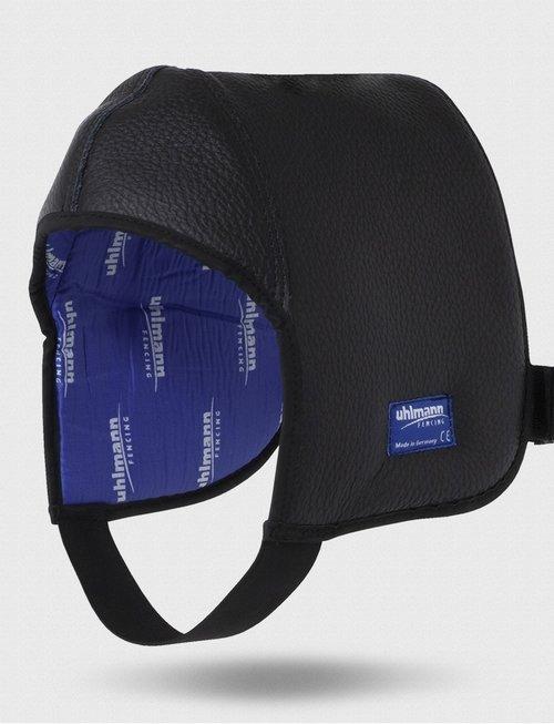 Uhlmann Fencing Maskenhaube aus Leder für Fechtmaske Spezial (verlängert)