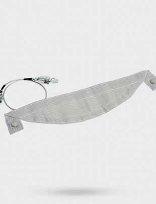 Uhlmann Fencing Fixation en tissu métallique pour masque Vario avec boutons-pression, câble de connexion du masque inclus