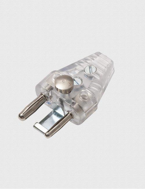 Uhlmann Fencing Kabelstecker 2-polig transparent