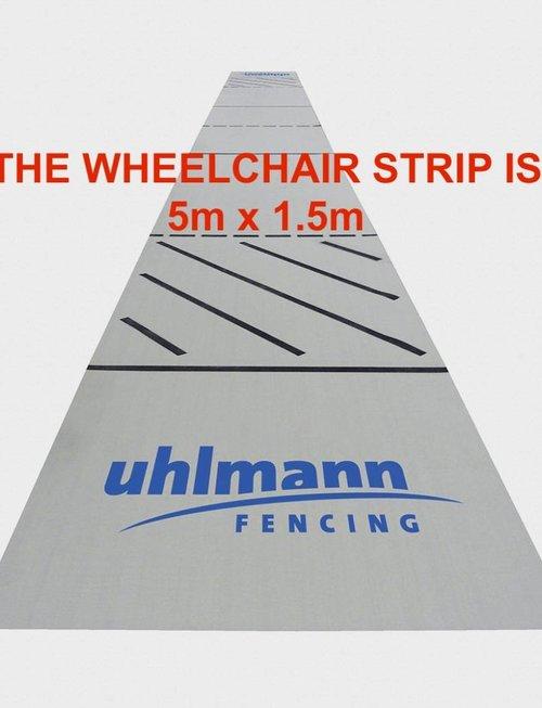 Uhlmann Fencing Kunststoff-Fechtbahn 5x15m (für Rollstuhlfechten)