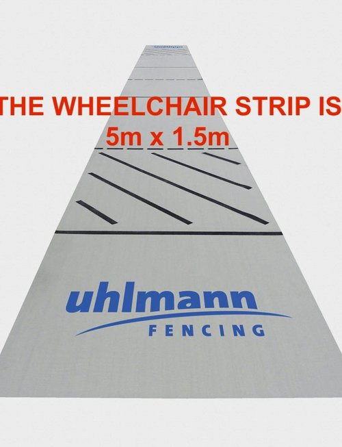 Uhlmann Fencing Pista da scherma in tessuti 5x15m (per scherma in sedia a rotelle)