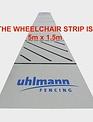 Uhlmann Fencing Piste d'escrime en tissus 5x15m (pour escrime en fauteuil roulant)