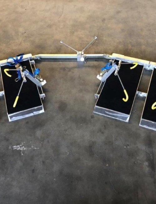 Uhlmann Fencing Cadre d'escrime pour fauteuil roulant avec bras de verrouillage (complet)