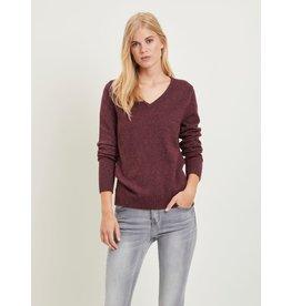 Vila viril l/s V-neck knit Noos