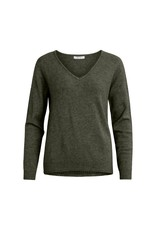Vila VIRIL V-NECK KNIT NOOS Forest knight