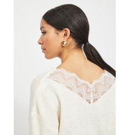 Vila VILALA LACE L/S KNIT TOP/PB