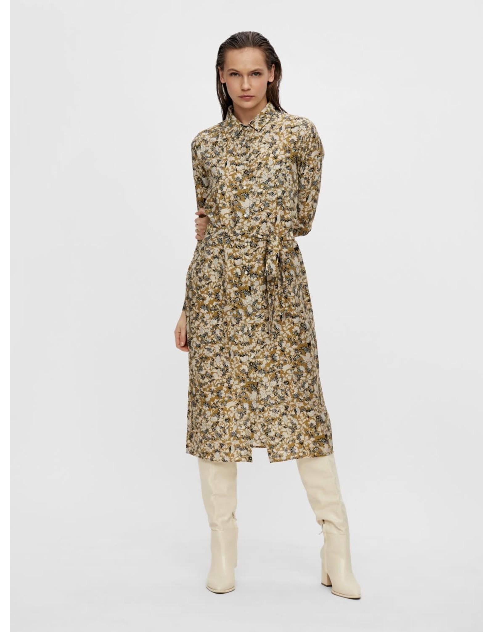 Object OBJAZZA L/S SHIRT DRESS 113