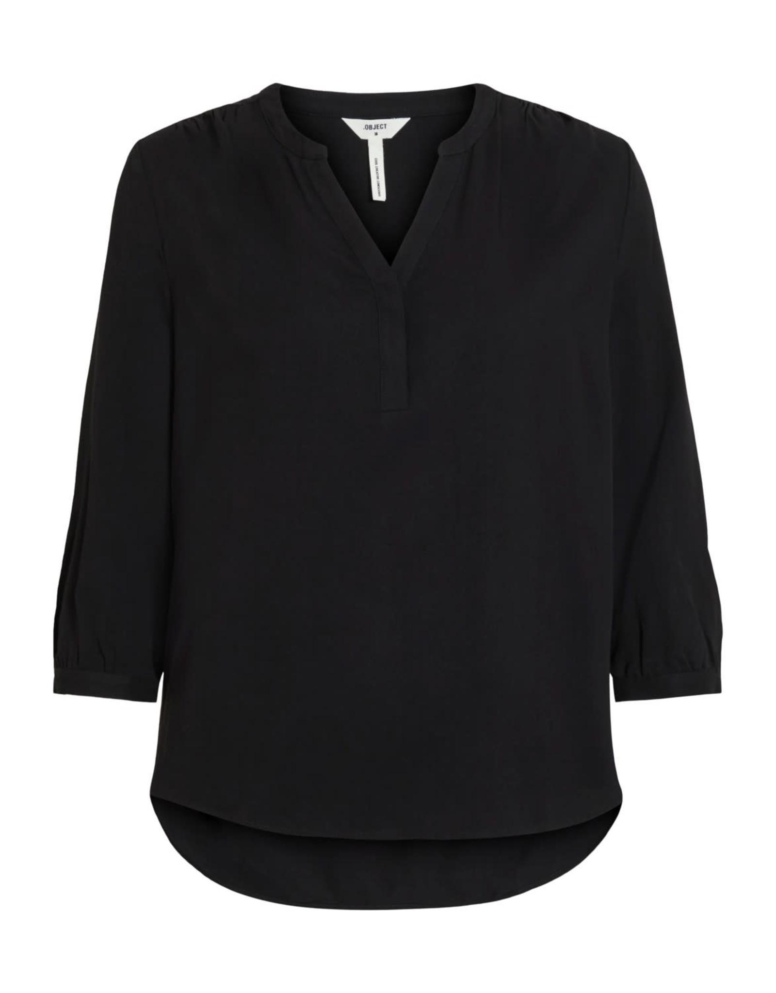 Object Objbaya 3/4 v-neck blouse noos