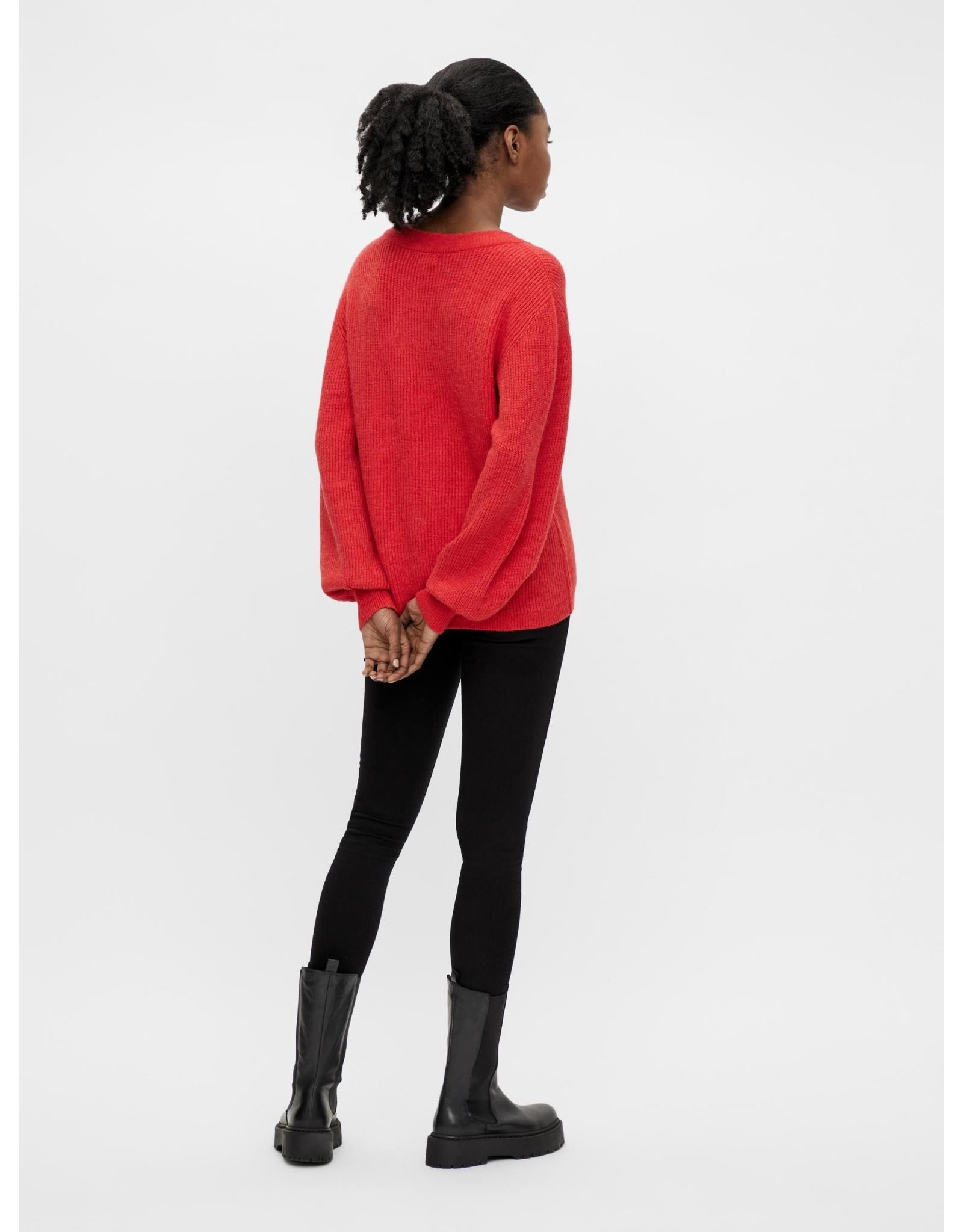 Object OBJMALENA L/S KNIT PULLOVER NOOS