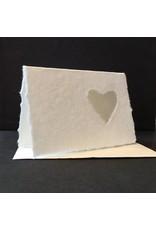 set 10 kaarten hartvormig nerfblad