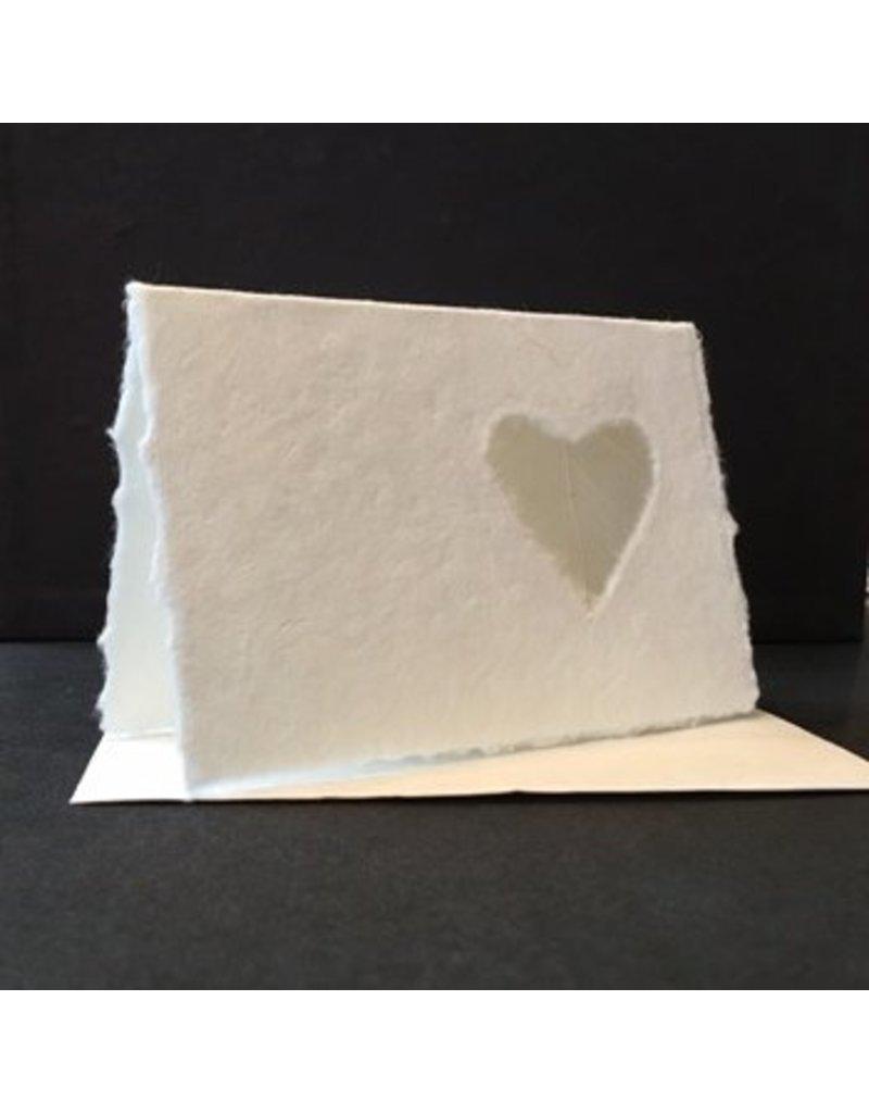 set 10 dubbele kaarten hartvormig nerfblad