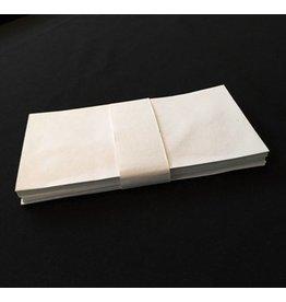 A6018 Satz von 25 Umschlaege, Baumwollepapier, 11x22