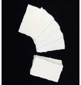 A8002 Lot de 50 cartes de papier mulberry 9x5cm